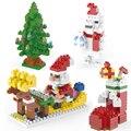 Auto bloqueo de mini ladrillos de bloques de construcción ladrillos árbol de navidad de Santa Claus de Dibujos Animados de cerdo juguete del edificio modelo ensamblar juguetes de regalo