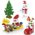 building block bricks self locking mini bricks christmas tree Santa Claus Cartoon pig model building toy assemble toys gift