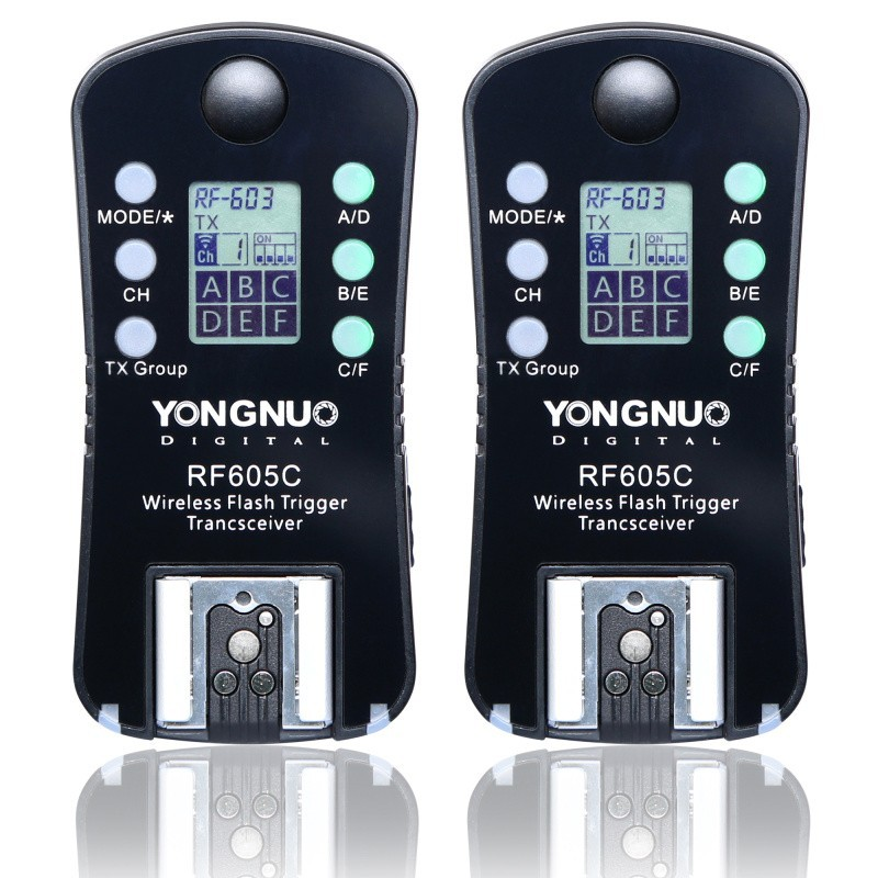 YONGNUO RF-605 RF605C RF 605C RF605 C Wireless Flash Trigger for Canon upgrade version of RF-603II yongnuo yn 560 iv yn560 wireless ttl hss master radio flash speedlite 2pcs rf 605c rf605 lcd wireless trigger for canon camera