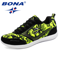 BONA New Classics Style Women Running Shoes Lace Up Women Sport Shoes Camouflage Ladies Sneakers Comfortable Fast Free Shipping