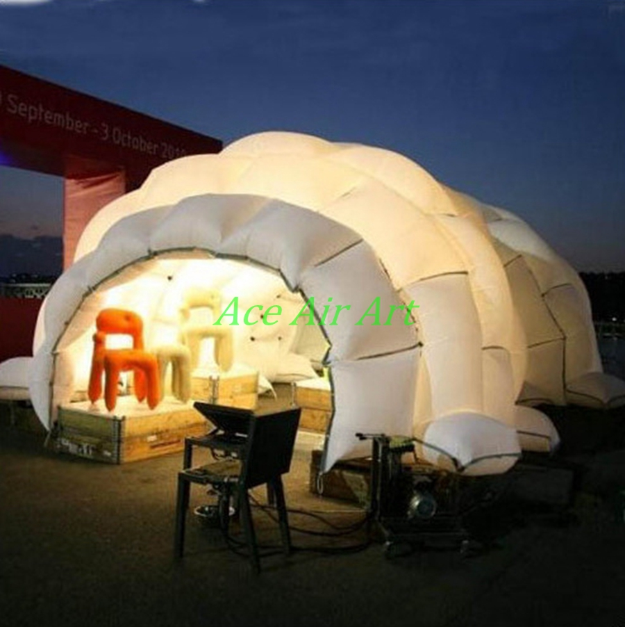 Giant Inflatable Igloo Marquee Dome / inflatable caver dome for trade show event