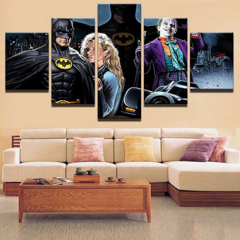 Wall Art Picture Modern Canvas Print Painting Wall Picture 5 Pieces Movie Characters Home Decoration Living