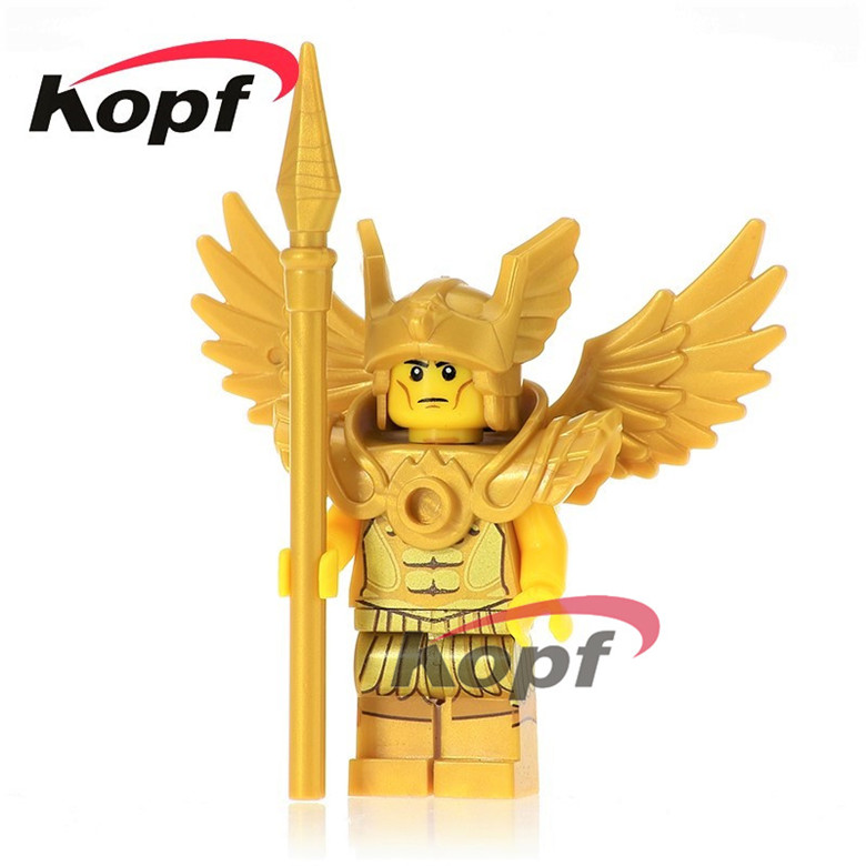 50Pcs XH 635 Saint Seiya Golden Evli Knight Flying Warrior Building Blocks Bricks Education Bricks Toys For Children Gifts X0163