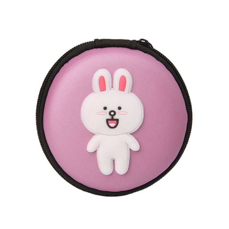 THINKTHENDO Cute Portable Mini Hard Case Bag Storage Box Pouch For SD TF Card Earphone Headset Small Coin Bags japanese pouch small hand carry green canvas heat preservation lunch box bag for men and women shopping mama bag