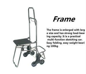 Image 4 - Multifunctional Folding Sketch Cart Painting Trolley Thickening Canvas Shoulders Bag Oil Drawing Chair Painting Supplies Art kit