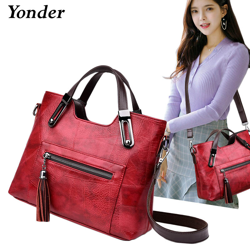 Yonder women handbag genuine leather tote bag ladies large capacity shoulder bag female crossbody messenger bag
