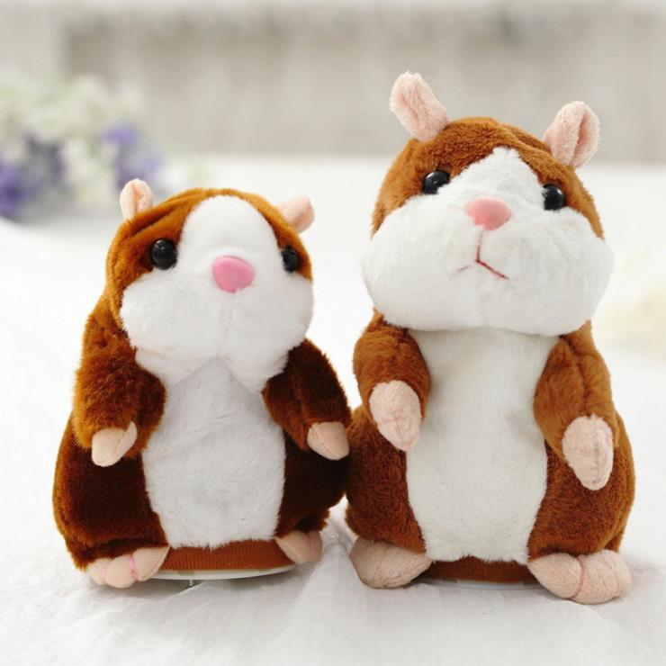 Dropshipping promoción 15 cm precioso Talking Hamster hablar Sound Record repetir peluche Animal Kawaii Hamster Juguetes