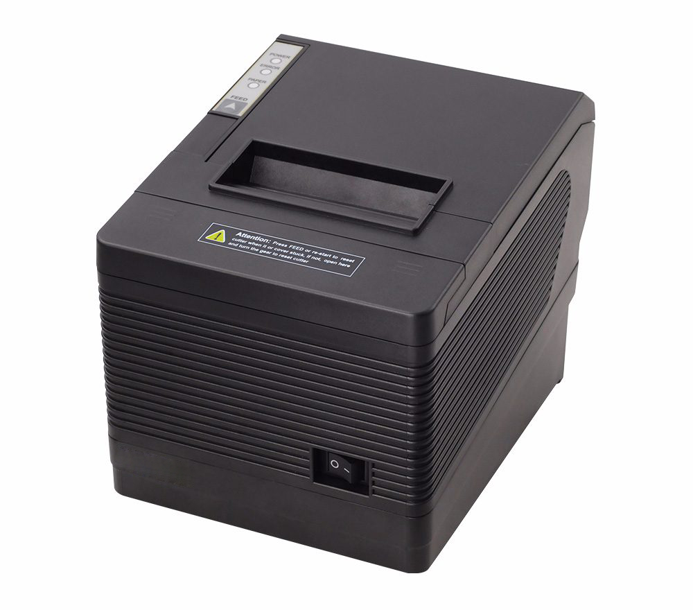 POS80 USB + LAN + RS232 High quality 80mm thermal receipt printer XP-260III auto-cutter machine printing speed USB port low cost and high quality thermal printing cheap pos80 receipt printer support linux windows10 use for business hs 825uc