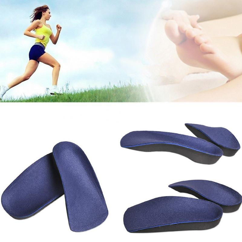 Foot Arch Half Pad Correction 3/4 Orthotic Arch Support Insole Shoe Cushion Pad Running Feet Pronation Fallen