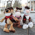 New Hot 35cm Germany Nici Cowboy Series Plush Toy Tiger Lion Giraffe Birthday 3pcs/Pack Christmas Gift Free Shipping Wholesale