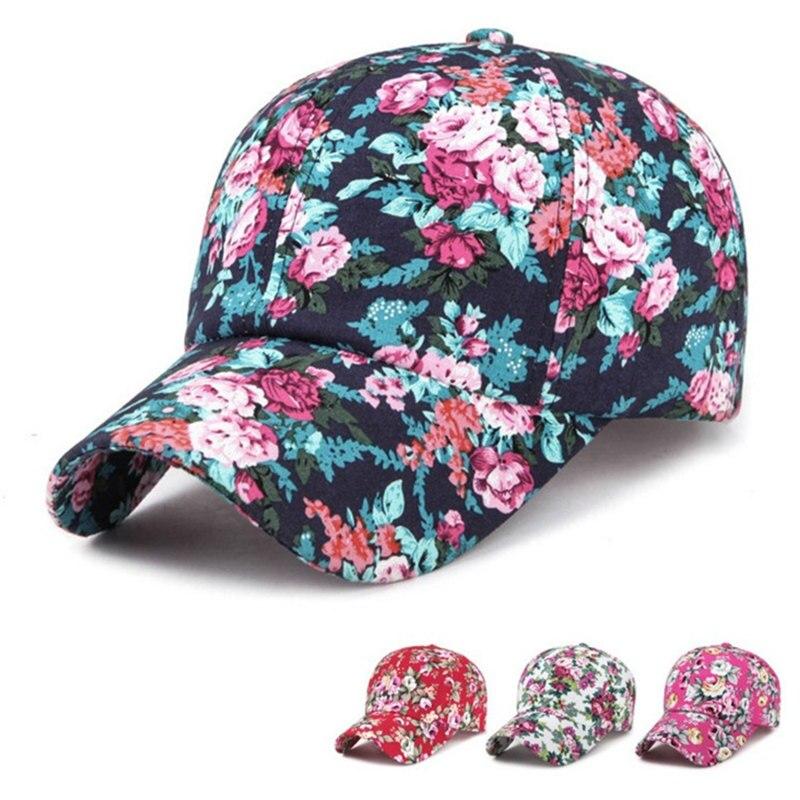 2019 Mode 2018 Sommer Frauen Drucken Floral Baseball Kappe Mode Einstellbare Hip Hop Hut Gedruckte Sonnekappe Herausragende Eigenschaften