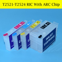 Empty 4color Refill Ink Cartridge For Epson T2521 T2524 252 252X For Epson Printer 7610 Wf