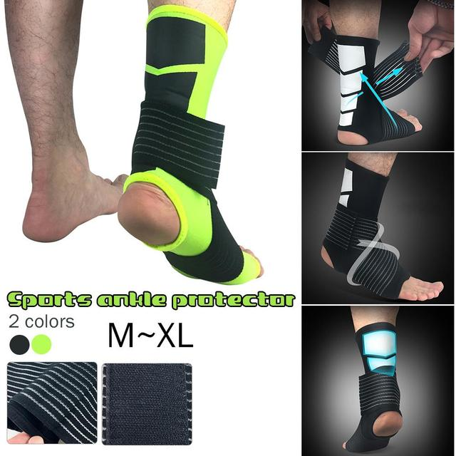 6e73198391 Outdoor Mountaineering Football Fitness Ankle Protector Elastic Bandage  Foot Ankle Sports Protective Socks Compression Socks