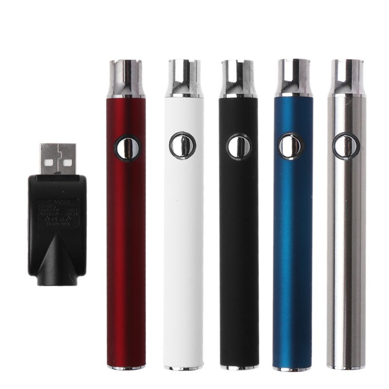 1Set 350MAH Push Button Preheat Battery Adjustable Voltage 510 Thread CBD Cartridge Tank For Ce4 G2 Vape Vaporizer Pen Accessori