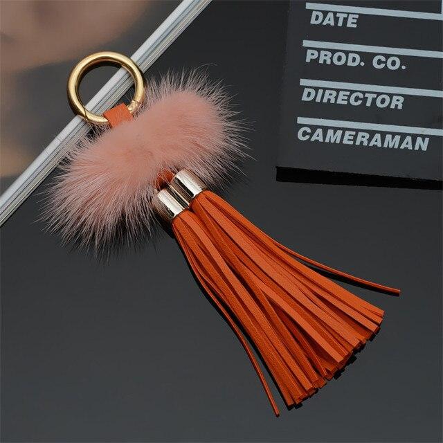 Bugiganga Keychain chaveiros Chaveiro de pele pompons fofo pom pom keychain chaveiro para carros chaveiros bugigangas