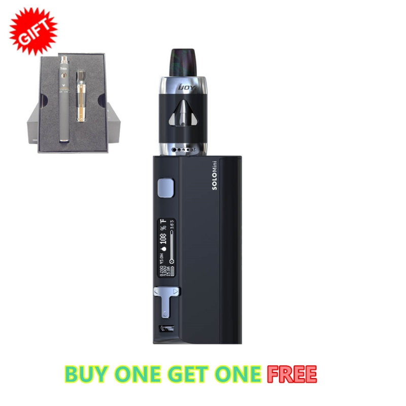 100% Authentic Solo Elf Full Kit 80W Solo Mini TC Mod E-cigarette IJOY SOLO ELF Starter Kit with 2ML ELF Tank K01 VS ALIEN KIT authentic 225w ijoy captain pd1865 tc full kit with 2 6ml rdta 5s tank