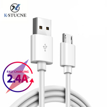 Micro USB Cable 2.4A Fast Charging Sync Data USB Cable Mobile Phone Android Adapter Charger Cable For Samsung Sony HTC LG Cable short flat micro usb data sync charging cable for samsung s4 s3 for lg for htc cellphones