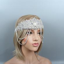 Дизайн, стразы, свадебный пояс для оголовья, жемчужная аппликация, свадебный головной убор, женский, для невесты, бесценный