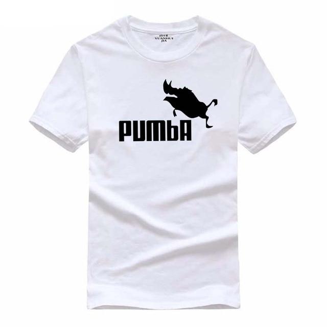 8699a7968 2018 funny tee cute t shirts homme Pumba men short sleeves cotton tops cool  tshirt lovely kawaii summer jersey costume t-shirt