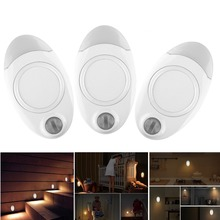 Amagle 2 Pack LED Lamp with Motion Sensor Mini Portable Wireless Battery Powered Pocket Wall Lamp Cabinet Stairs Night Light