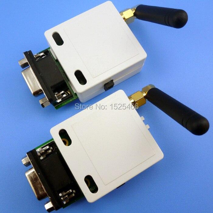 HY035 2 2Pcs 433mhz 1000m Long Distance UART RS232 Data Radio Modem Serial Port RF Transceiver