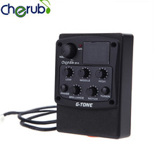 Cherub GT-3 Acoustic Guitar Preamp Pickup 4-Band EQ With Chromatic Tuner Feedback-Fighting Notch And Phase Effect