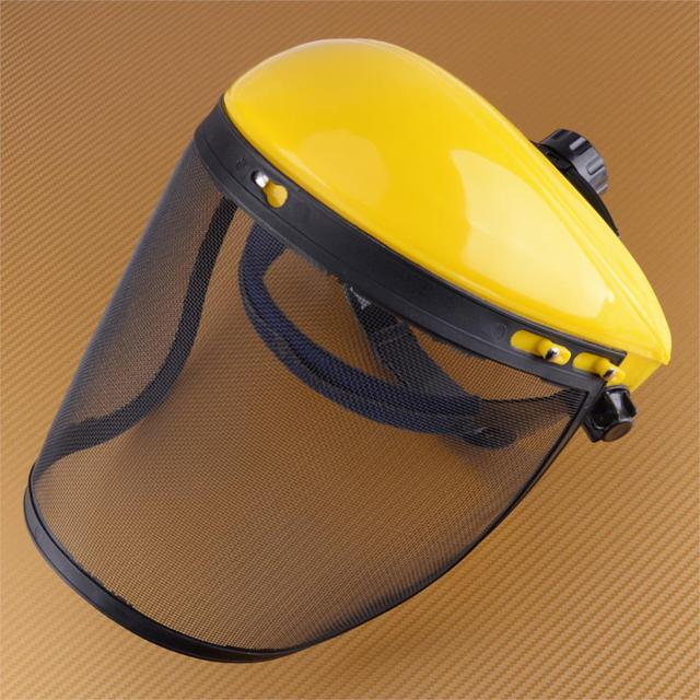 LETAOSK Wire Mesh Safety Helmet Face Mask Shield Visor Combo for Lawn Mower  Cutter Chainsaw Forestry Trimmer Protection 1d994e39b6b4