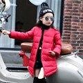 Nuevos 2016 Niños Ropa de Invierno Chaqueta Del Bebé Hacia Abajo Abrigo de Estilo Largo Autocultivo Parkas Niños Estudiante Al Aire Libre prendas de Vestir Exteriores