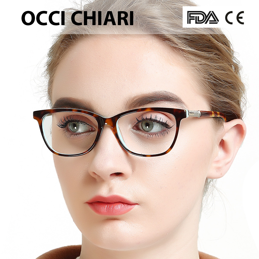 832111ea014 OCCI CHIARI Lightweight Black Round Eyewear Frames With Optical Clear Lens  For Women and Men
