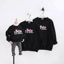 Family matching clothes mother and daughter clothes family look mommy and me clothes sweaters cartoon hoodies family clothing