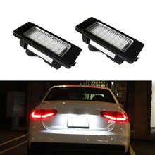 2 White Error Free 24 LED License Plate Light Lamp For PASSAT B8 Led for Audi A4 license A5 S5 TT Q5 R36 8T0943021
