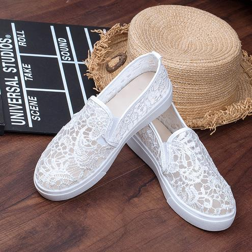 new arrival white lace Sneakers Women