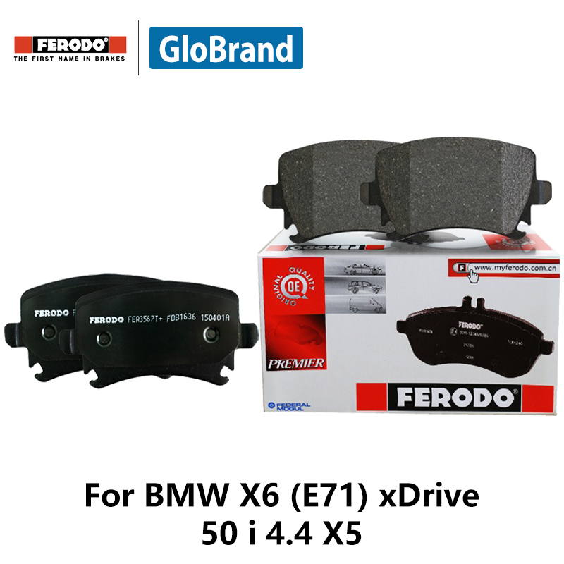 4pieces/set Ferodo Rear Car Brake Pads For BMW X6 (E71) xDrive 50 i 4.4 X5 M 4 FDB4259 2pcs lot ferodo car rear brake disc for ford cruze 1 6 1 8 excell gt xt 16 tire 1 6 1 6t 1 8 ddf1872 d