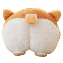 Novelty Corgi Butt Plush Pillow Hip Hand Warmer Cartoon Animal Sofa Cushion Stuffed Dog Kids Toys