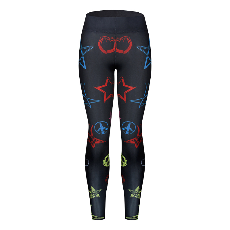 2018 New Quick-drying Gothic Leggings Fashion Ankle-Length Legging Fitness Leggings with Pocket