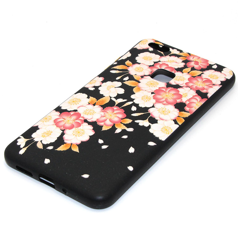 3D Relief flower silicone huawei P10 lite (34)