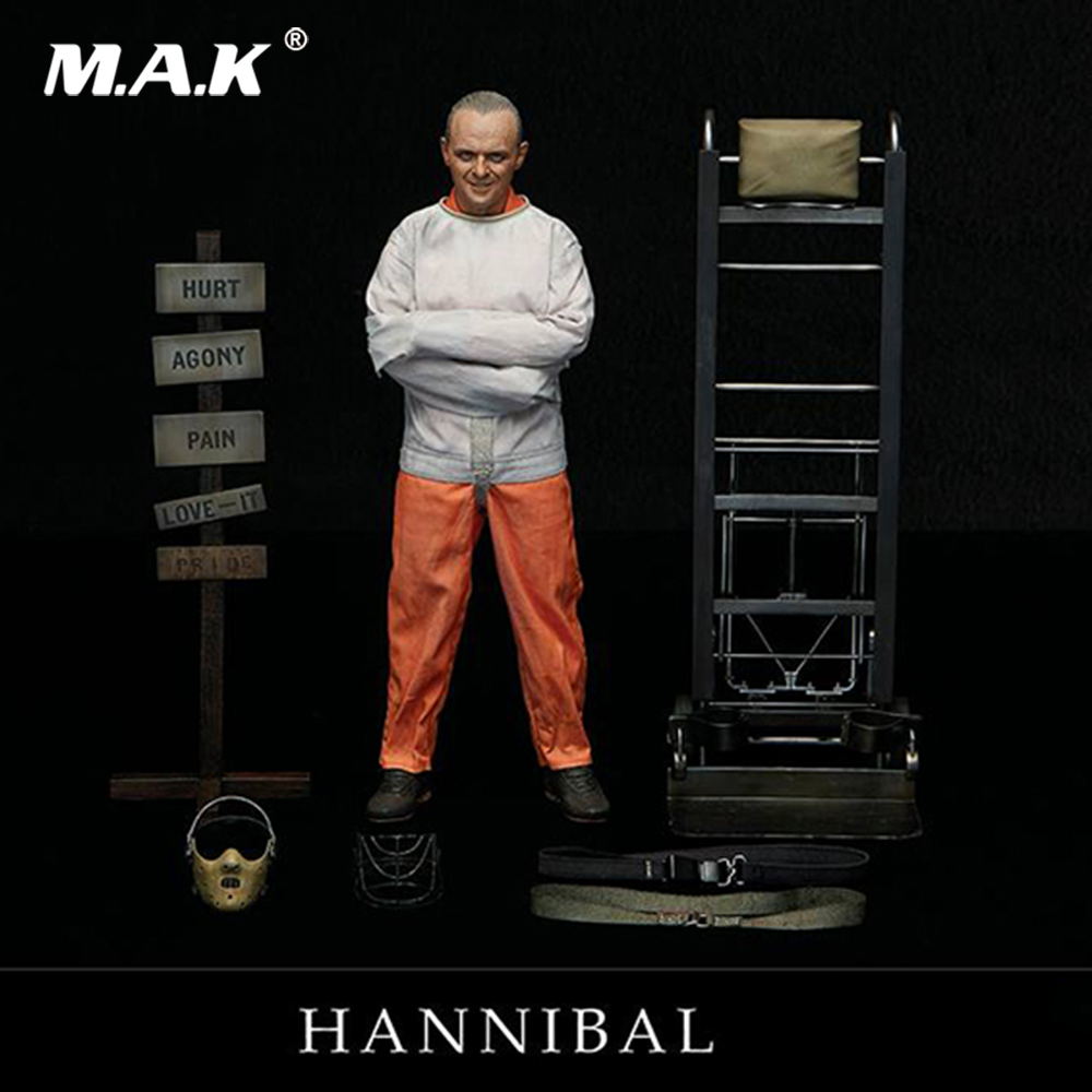 1 6 Collectible Full Set The Silence of the Lambs 1991 Hannibal Lecter White Prison Uniform