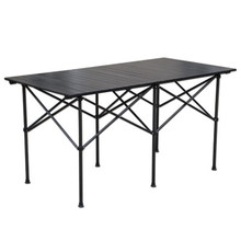 Mesa dobrável durável impermeável do piquenique da liga de alumínio do acampamento da cadeira de mesa dobrável exterior da tabela para 140*70*70cm