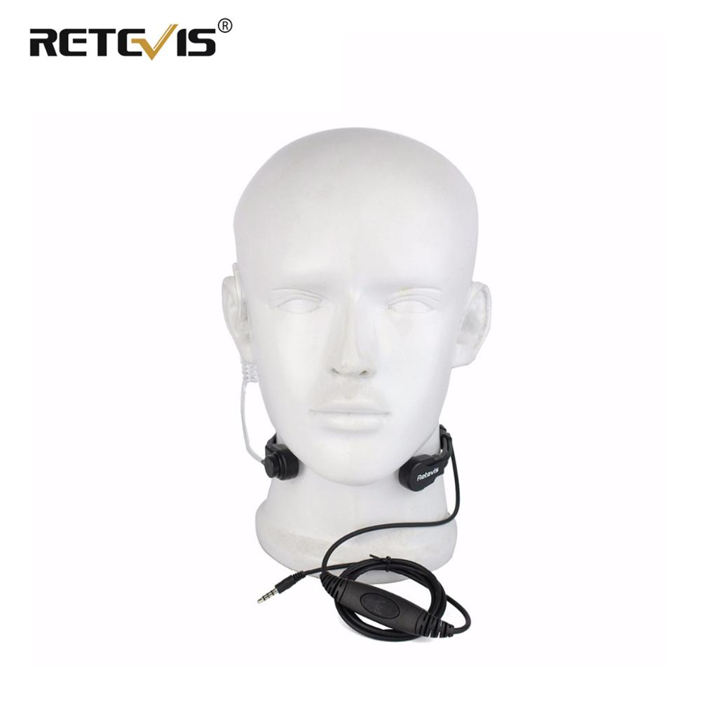 Retevis R-151 1Pin 3.5mm PTT Throat Mic Flexible Earpiece Covert Air Tube Headset Headphone For Mobile Phone/Speakers/Computers(China)