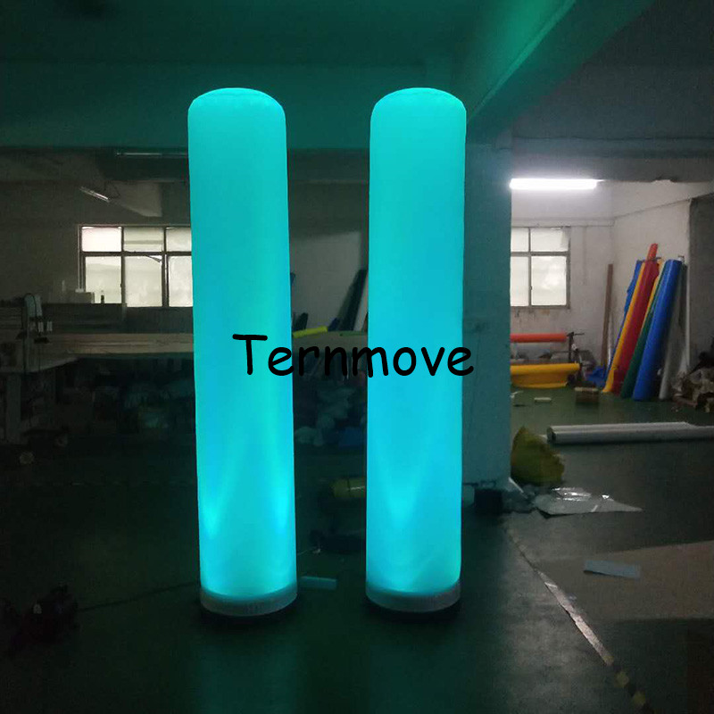 Inflatable Lighting Standing Tube Decoration ,Adver Event Column Advertising LED Inflatable Pillar Inflatable Column Tube