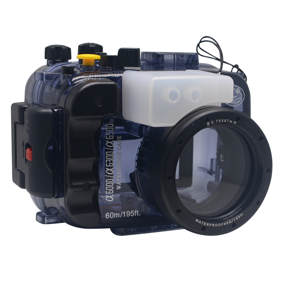 Mcoplus 40m 130ft Diving Camera Waterproof Housing Bag Case For Sony A6000 A6300 A6500 With 16 50mm Lens In Video Bags From Consumer