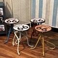 Металл творческий промышленного ветер стул барный стул Американских Ретро Олова ремесла личность мебель для Дома украшения
