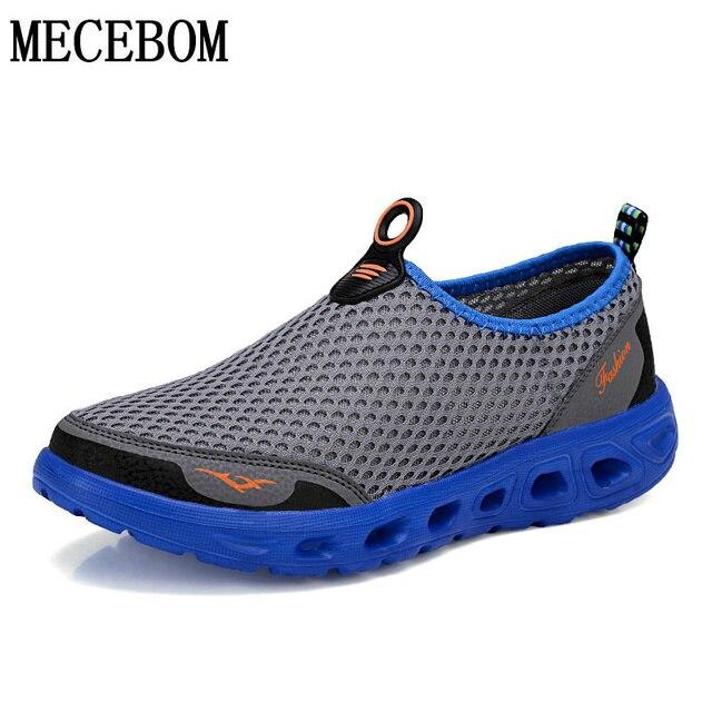 Мужская обувь модного бренда открытый сетки повседневная обувь оригинальные качества дышащая скольжения на свет летом hombre zapatillas X6
