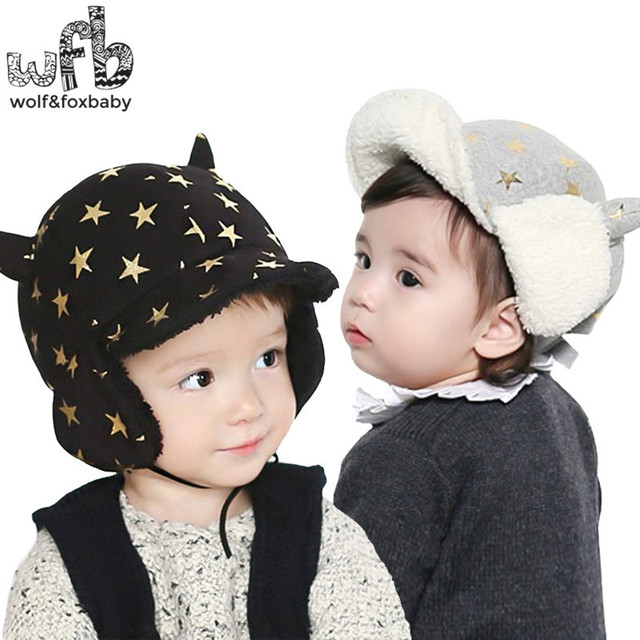 Varejo 50 CM rodada cap veludo Bronzeamento proteção de Orelha quente cap  moda bebê crianças infantil 295ade3c5d3