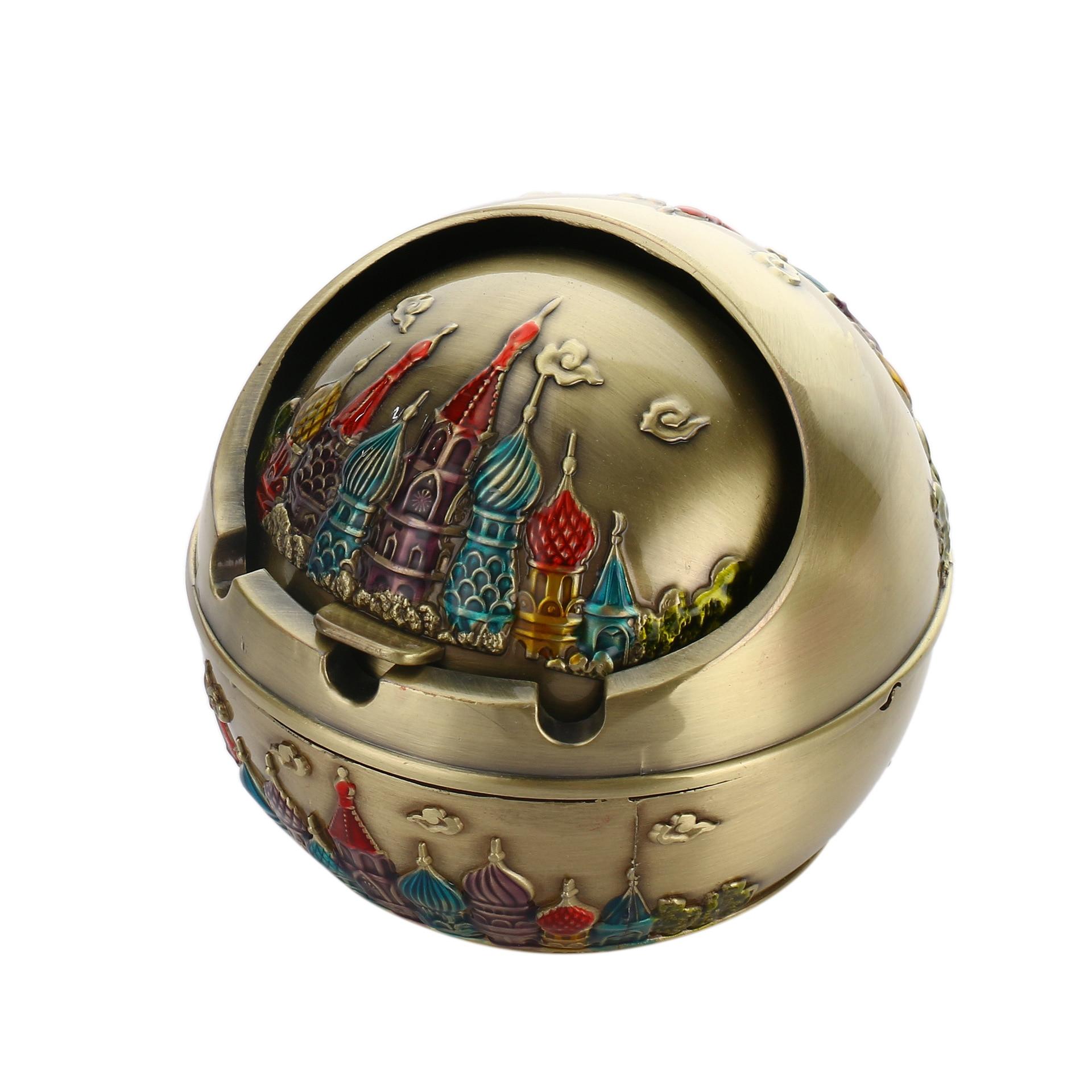 Popielniczka z rosyjskim zamkiem z kulkami, Zapalniczki i akcesoria - Artykuły gospodarstwa domowego