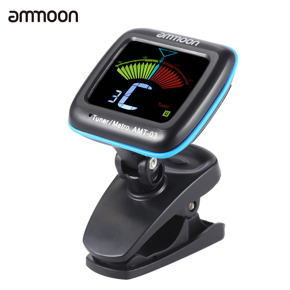 ammoon amt 03 portable guitar tuner metronome digital tuner clip mic for chromatic guitar bass. Black Bedroom Furniture Sets. Home Design Ideas