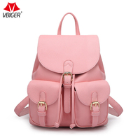 Vbiger Women Backpack Female Package Spring And Summer New Litchi Pattern Backpack Students Bolsa Mochila Feminina