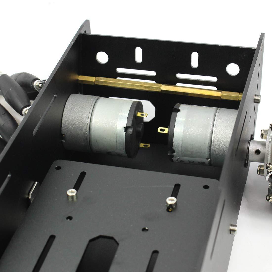 4WD RC châssis de voiture intelligente pour plate-forme Arduino avec moteur 12 V bricolage 4 roues Robot - 4