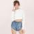 Hdy haoduoyi moda com capuz colheita tops luva longa das mulheres do sexo feminino pulôver estilo preppy tops ladies casual sólidos camisolas