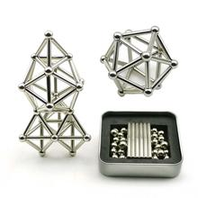 Innovative Buckyballs 36PCS Magnetic Sticks & 27PCS Steel Balls Toy Building Blocks Puzzle Set For Pressure Relief